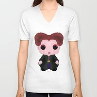 hocus pocus V-neck T-shirts featuring Hocus Pocus Winifred by SpaceWaffle
