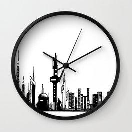 Paysage Urbain 01 / Cityscape 01 Wall Clock