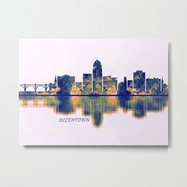 Allentown Skyline Metal Print
