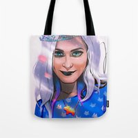 sister Tote Bags featuring SISTER by AnnArk