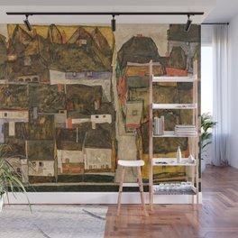 Egon Schiele - Die kleine Stadt IV (Krumau an der Moldau) Wall Mural