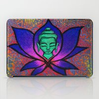 namaste iPad Cases featuring Namaste. by Gabrielle Wall