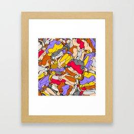 Sleepy Heads - Ruby Violet Gold Framed Art Print