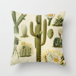 Naturalist Cacti Throw Pillow