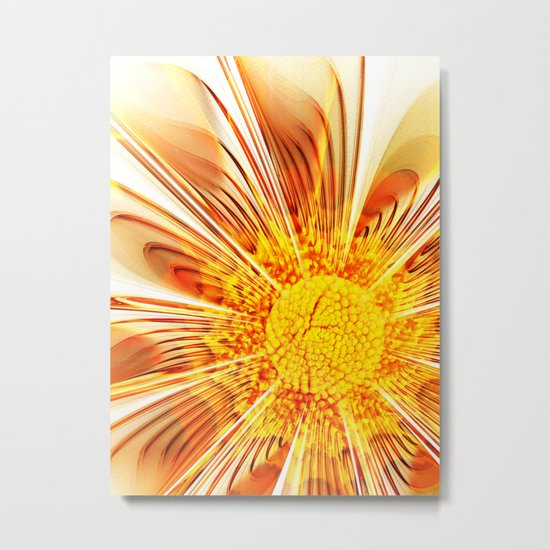 Summer Fractal Flower Metal Print