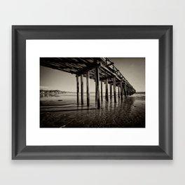 The pier at Cayucos Framed Art Print