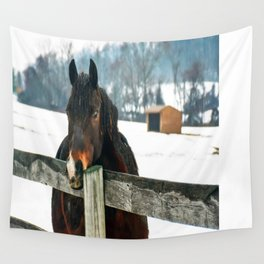 Thoughtful Horse Wall Tapestry