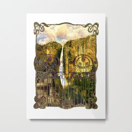 Elvish Places I Metal Print