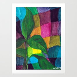 Callalily in wrapped in a scarf Art Print