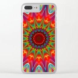 Colors kaleidoscope pattern Clear iPhone Case