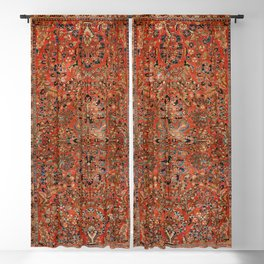 Persia Sarouk 19th Century Authentic Colorful Red Yellow Leaf Vintage Patterns Blackout Curtain