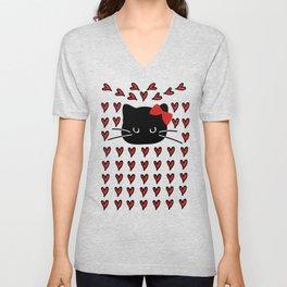 Love love cat Unisex V-Neck