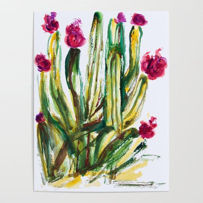 Crazy Cactus Poster