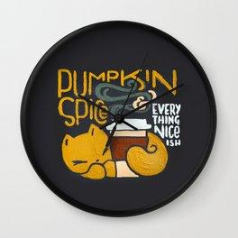 Pumpkin Spice & Everything Nice(ish) Wall Clock