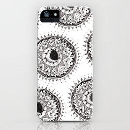 Moon Mandala iPhone Case