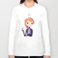 bones Long Sleeve T-shirts featuring Bones by Nan Lawson