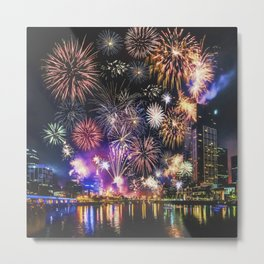 Fabulous Fireworks Metal Print