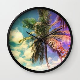 Prismatic Palm Wall Clock