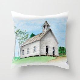 Old Methodist Church in Cades Cove Throw Pillow