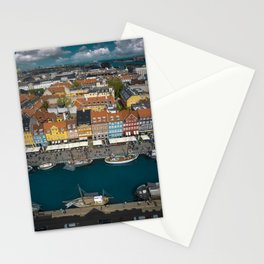 Colorful houses of Copenhagen Stationery Cards