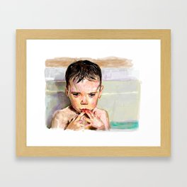 Bath contemplation  Framed Art Print