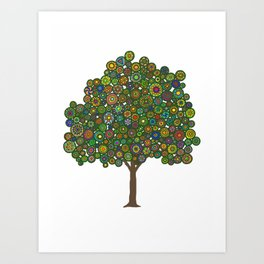 Marble Tree Art Print