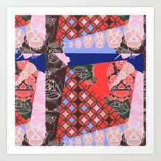 Girly_pattern_toxic_cute pattern Art Print