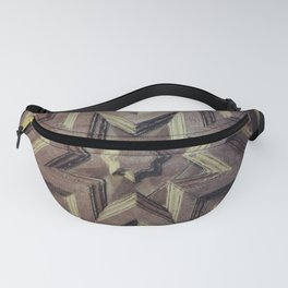 Woodcarved star Fanny Pack
