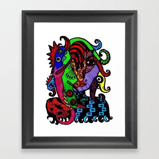 Lizard Princess Framed Art Print
