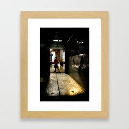 Mumbai Crowds - V T Station - 2 Framed Art Print