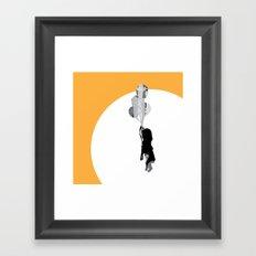 Little Girl With Balloons 2 Framed Art Print