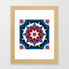 Bold and bright beauty of suzani patterns ver.7 Framed Art Print