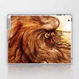 Une Crinière de Lion (the haughty and brilliant lion) Laptop & iPad Skin
