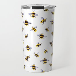 Bumblee Bee Watercolor Pattern Travel Mug