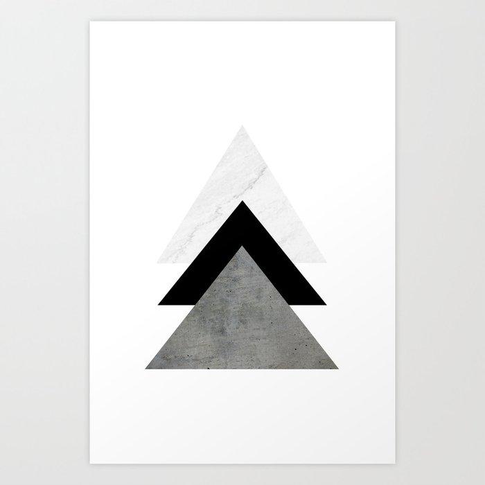 Arrows Monochrome Collage Kunstdrucke