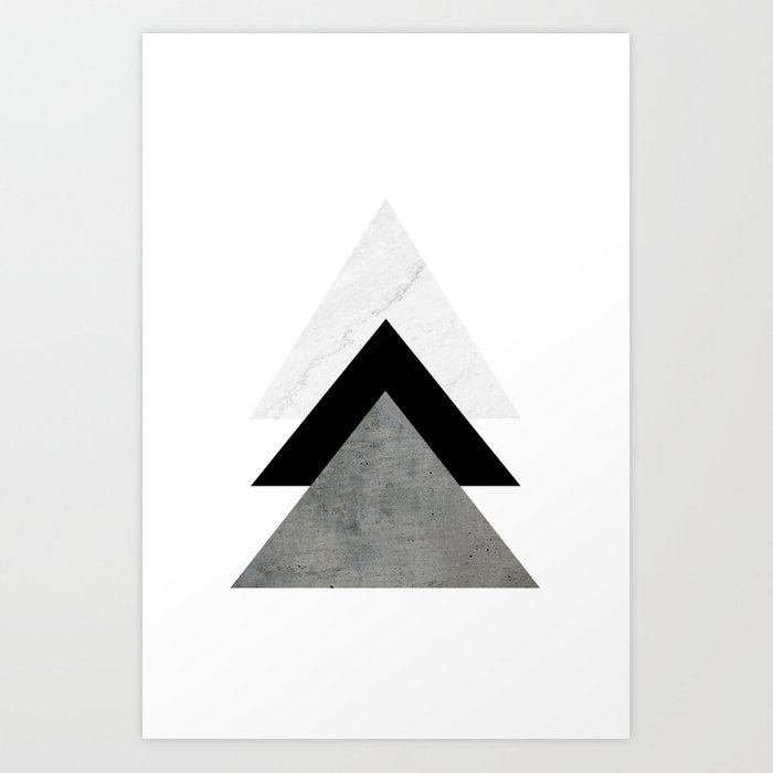 Arrows Monochrome Collage Art Print