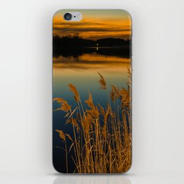 Nature Landscape Photography - Sunset at Reedy Point Pond iPhone Skin