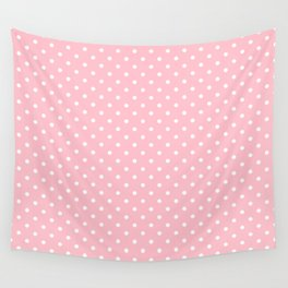 Dots (White/Pink) Wall Tapestry