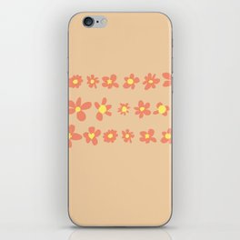 Daisy Chain in Oranges iPhone Skin