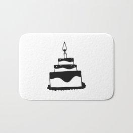 Monochrome birthday cake Bath Mat