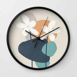 Abstract Flowers 3 Wall Clock
