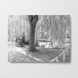 The English IR Pond Metal Print