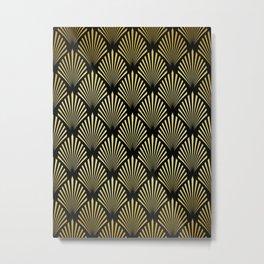 Golden pattern II Metal Print