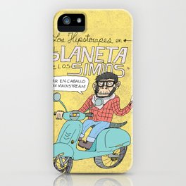 Hipster Ape in the Ape Planet iPhone Case