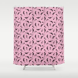 Roses & Revolvers // Pink Shower Curtain