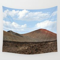 spain Wall Tapestries featuring Lanzarote Landscapes - Spain by T M B