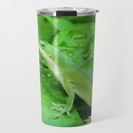 Mr. Lizard is Watching You Travel Mug
