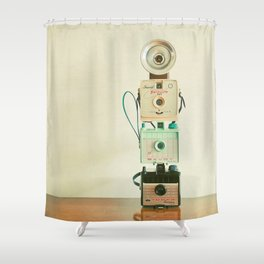 Tower of Cameras Shower Curtain