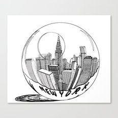 New York in a glass ball Canvas Print