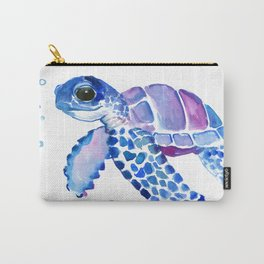 Blue Purple Sea Turtle, Turtle for nursery Carry-All Pouch